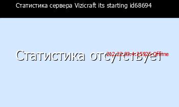 Сервер Minecraft Vizicraft its starting id68694