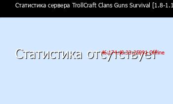 Сервер Minecraft TrollCraft Clans Guns Survival [1.8-1.12.X]