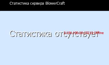 Статистика онлайн сервера minecraft blowercraft