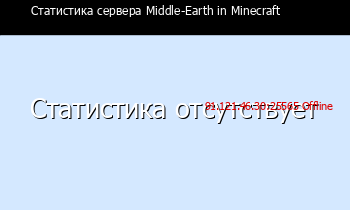 Сервер Minecraft Middle-Earth in Minecraft