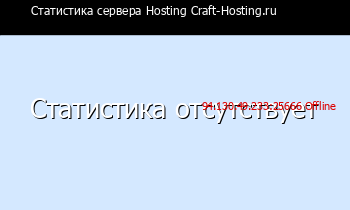 Сервер Minecraft Hosting Craft-Hosting.ru