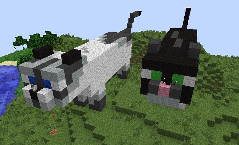 Как сделать кошку в майнкрафте из блоков