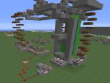 Механизмы (лифт) в плоском мире режима игры Креатив